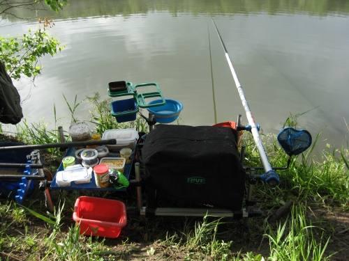 подготовить место для рыбалки
