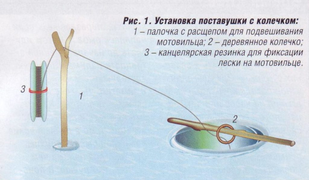 Устройство поставушки с колечком